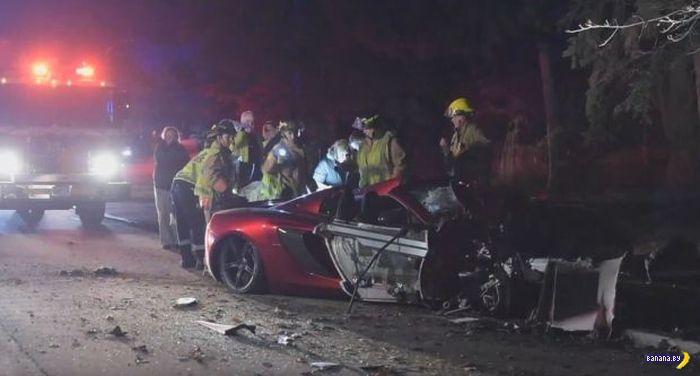 McLaren Spider до и после ошибки пилота