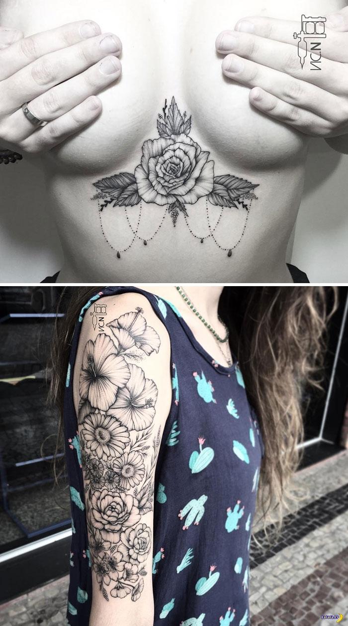 Татуировки на зависть - 83 - Цветы