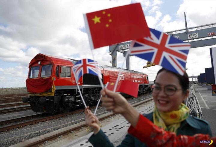 Отправился первый прямой поезд из Великобритании в Китай