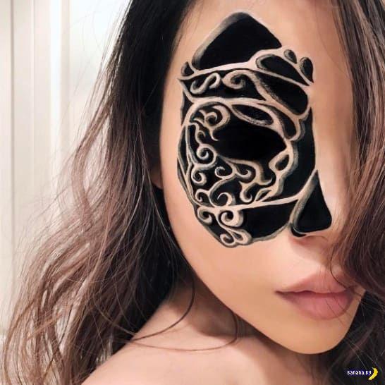 Деформации и иллюзии на лице