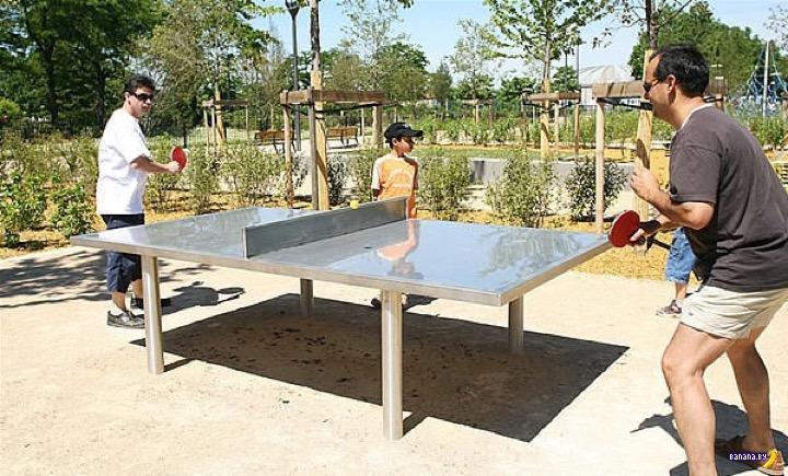 Дворовые столы для пинг-понга