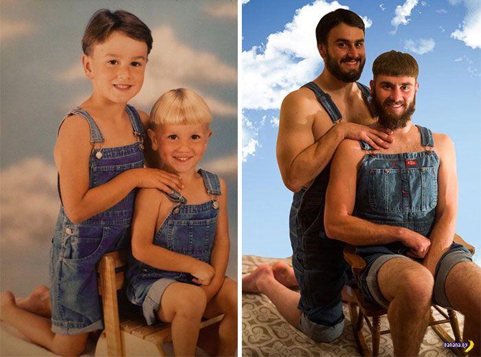 Ремейки детских фотографий