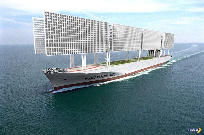 Тюремный корабль с камерами-сотами