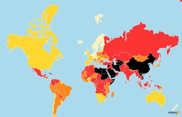 Рейтинг свободы прессы за 2016 год