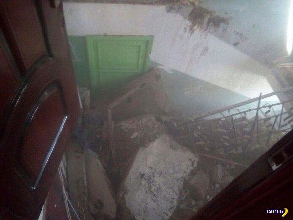 На лестницу вышел, а лестницы нет!
