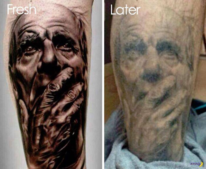 Татуировки надо обновлять!