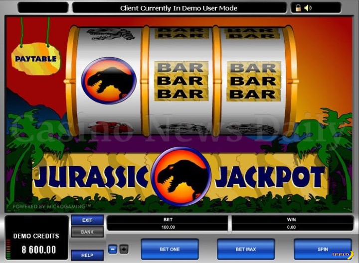 Лучшие игровые автоматы на тему динозавров