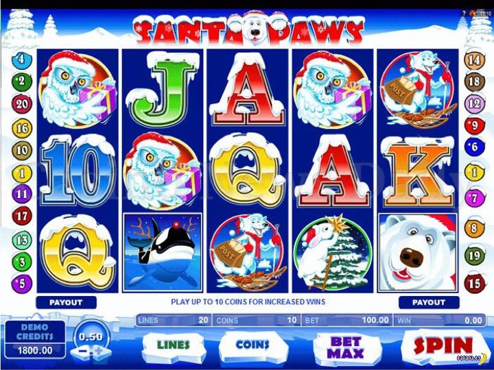 Самые популярные игровые автоматы на тему Рождества