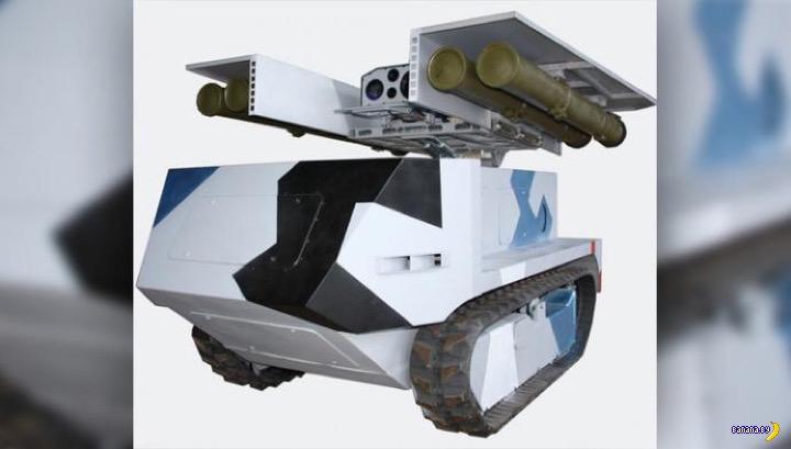 """Белорусский робот """"Богомол"""" против танков"""