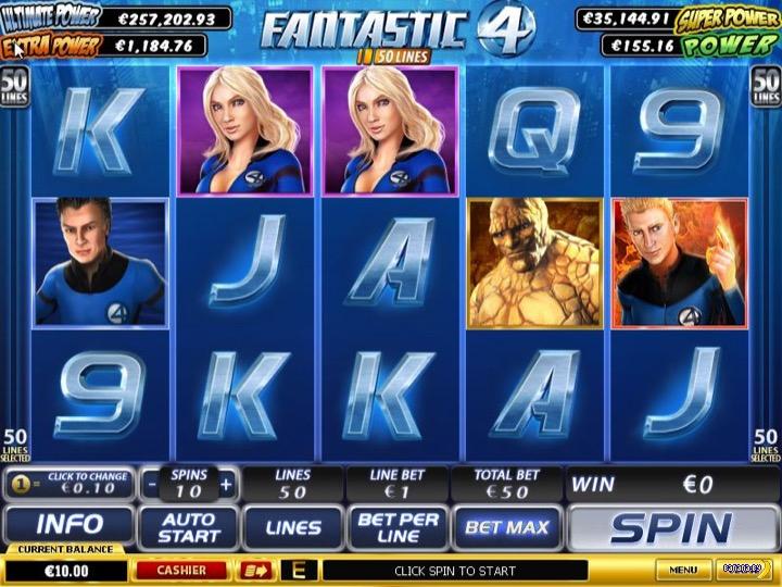 Прогрессивный джекпот в онлайн автомате Fantastic Four