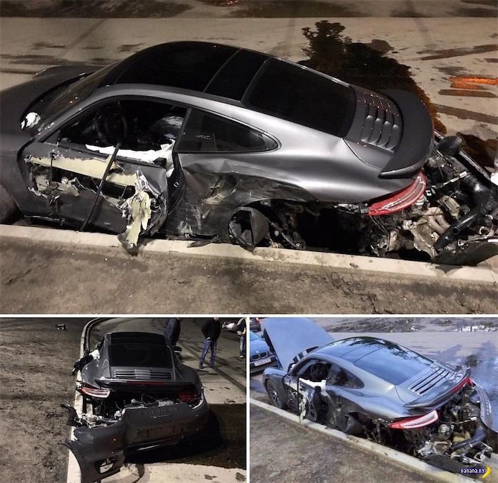 Порванный в Ростове-на-Дону Porsche