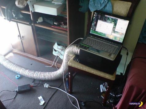 Спасение компьютеров и ноутбуков от жары