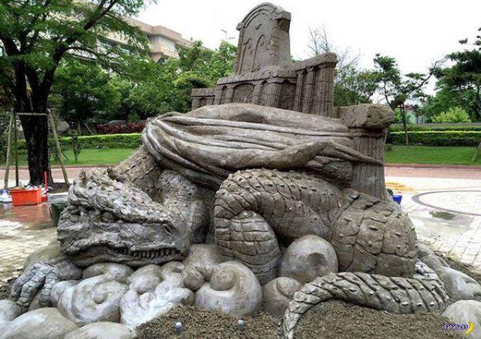 Красивые и удивительные скульптуры из песка