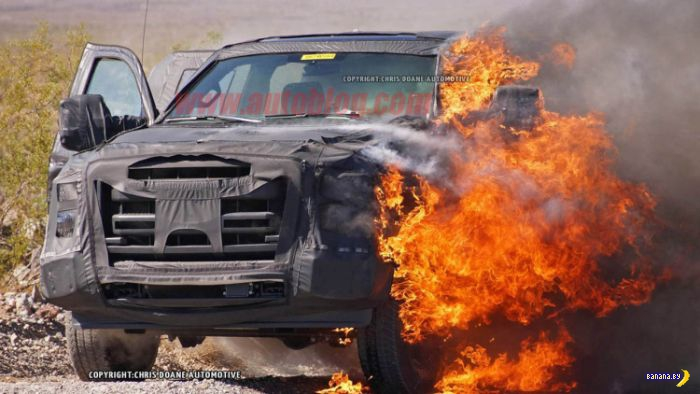 Как сгорел прототип Ford F-Series