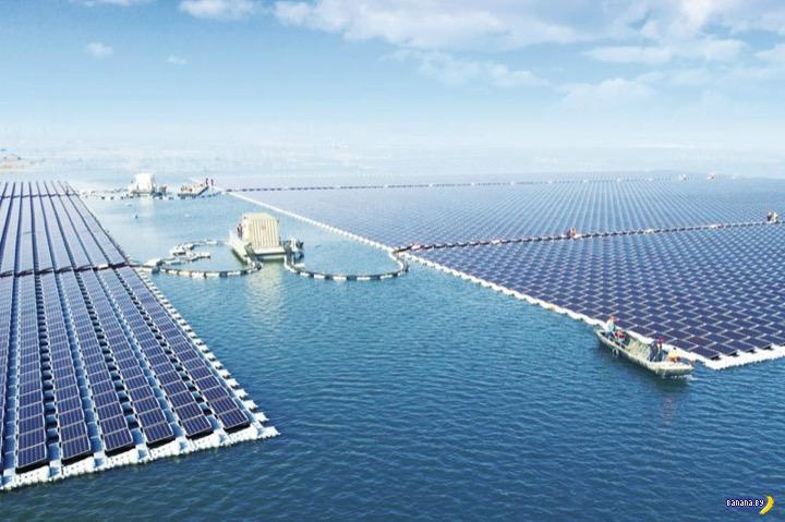 Самая большая плавающая солнечная ферма в мире