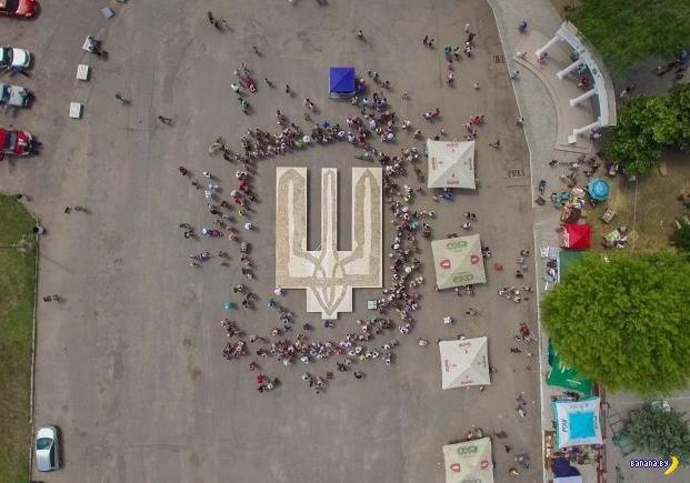 Сало, герб Украины и больные животики