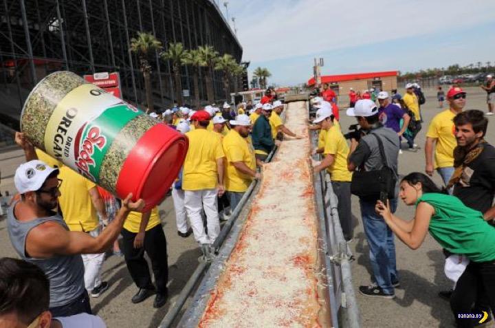 В Калифорнии сделали рекордную пиццу