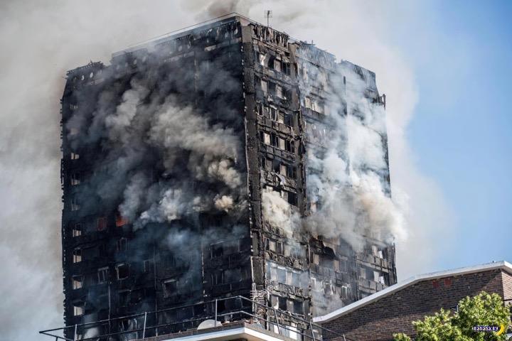 Лондонский пожар –фотографии