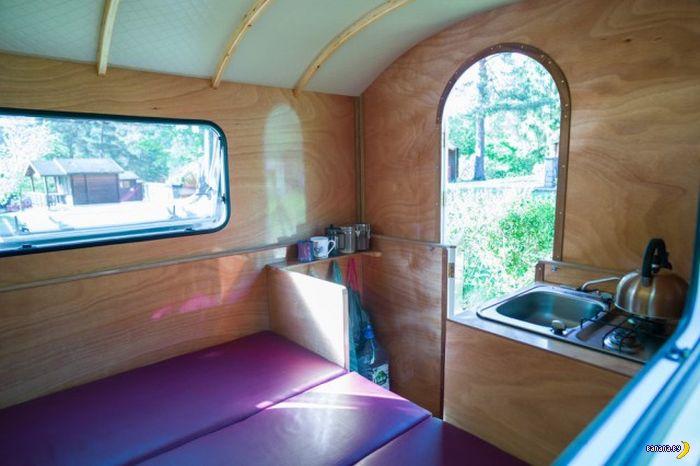 Компактный домик на колёсах