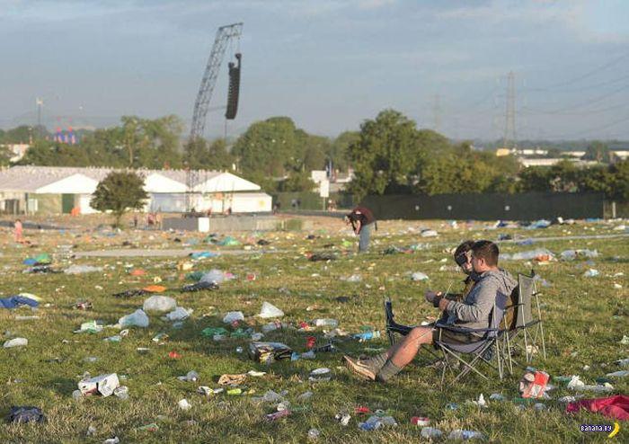 Гластонбери и тысяча тонн мусора