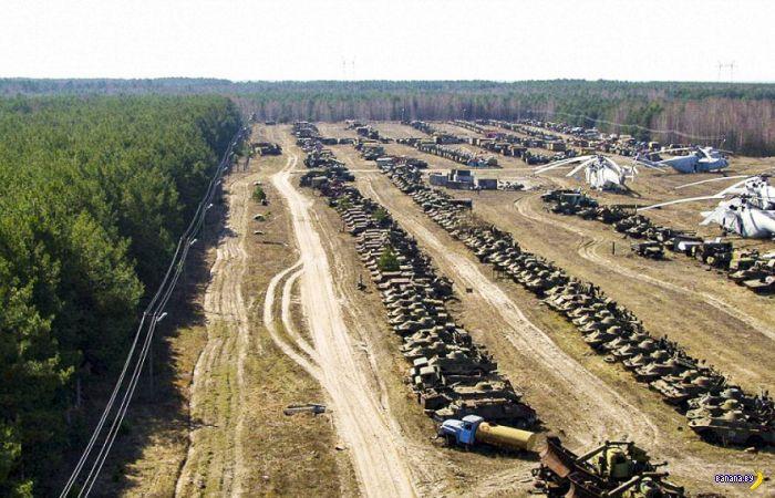 Россоха –кладбище техники из Чернобыля