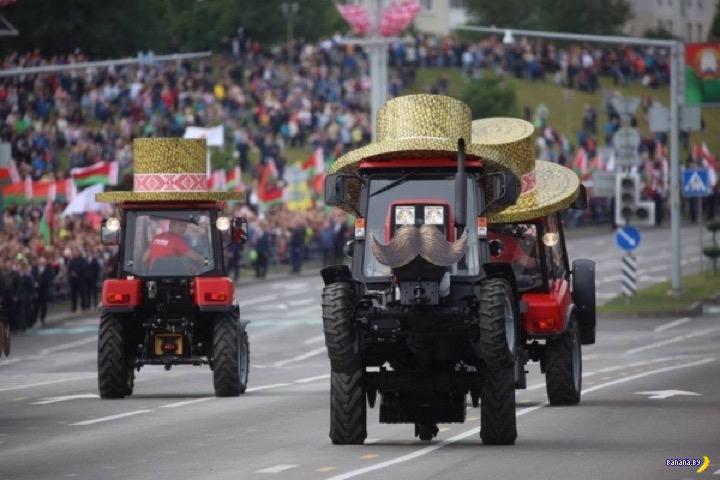 Парад унитазов, танцующие тракторы и мнение об этом