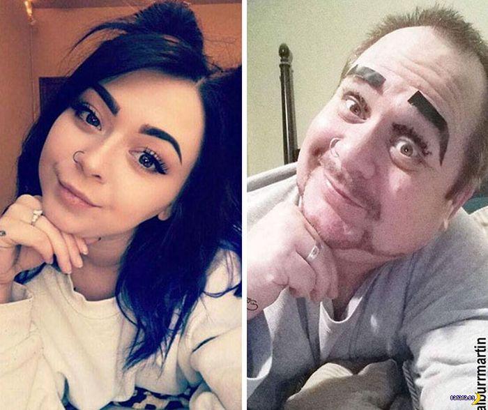 Папа активно троллит дочь