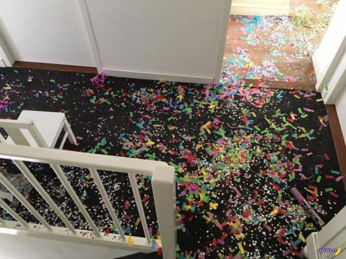 Погром в доме оказался поздравлением
