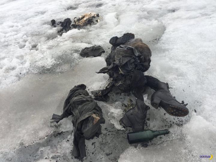 Спустя 75 лет ледник вернул пропажу