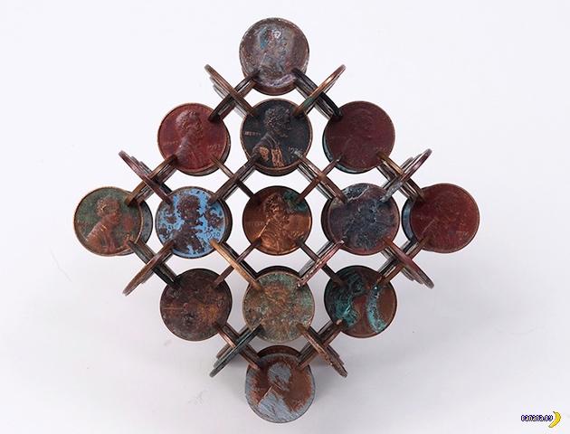 Комплексные структуры из надрезанных монет