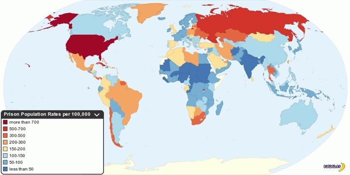 Статистика по заключенным на одной картинке