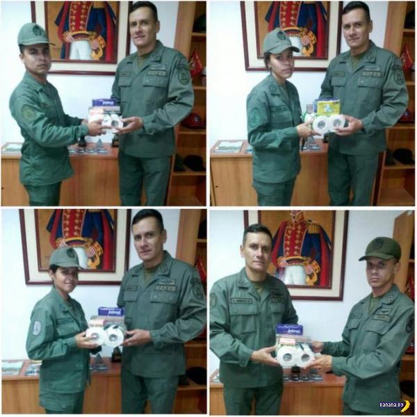 Награждение героических венесуэльских воинов