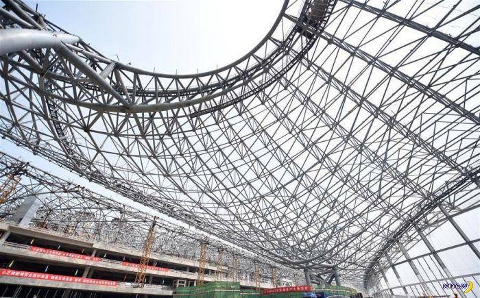 Новый Пекинский аэропорт и паутинка