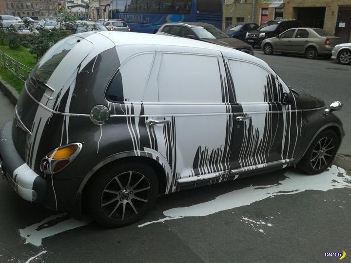 """""""Штраф"""" за неправильную парковку"""