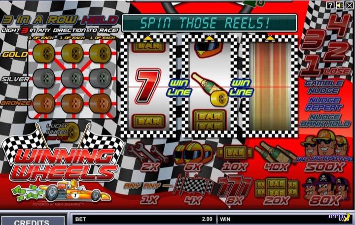 Игровые автоматы на тему гонок