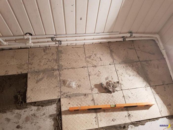 Что могло пойти не так с плиткой?