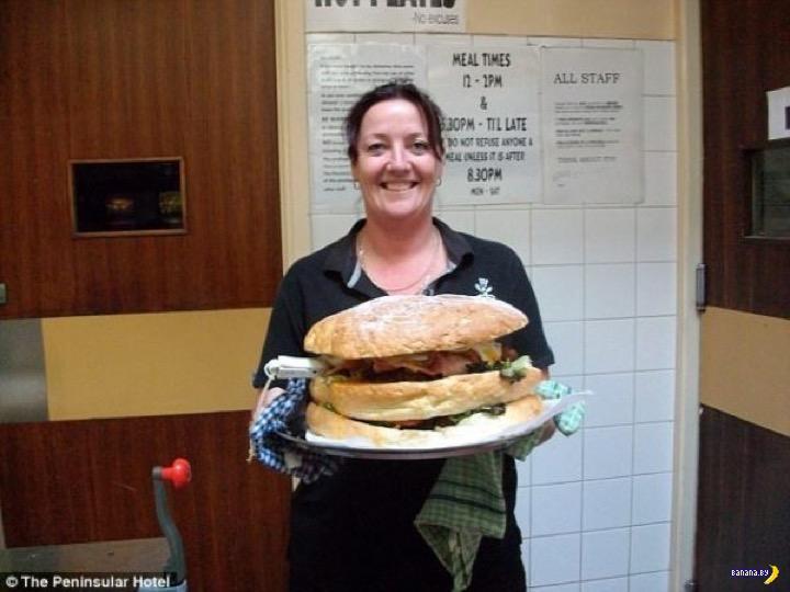 Большая жратва: бургер на 3,5 кг!