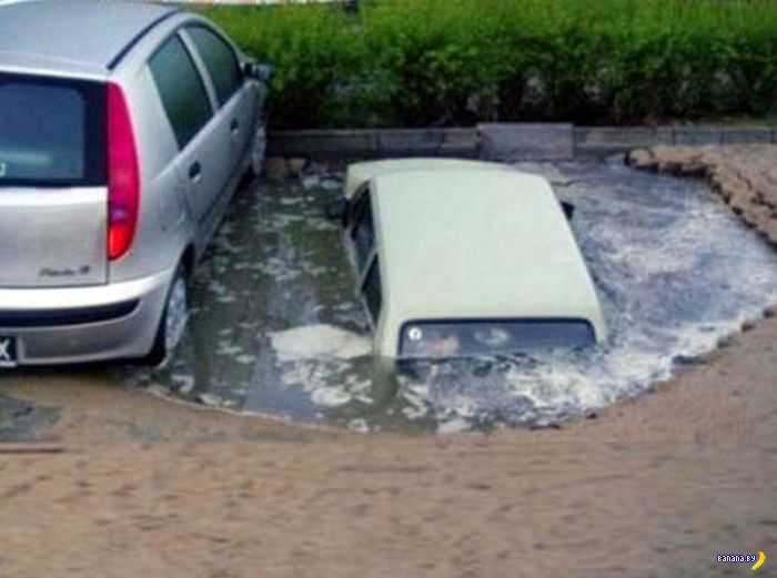 Угробить машину можно смешно!