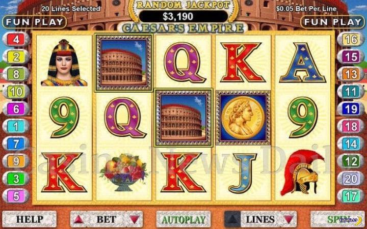 Игровые автоматы на тему Древнего Рима