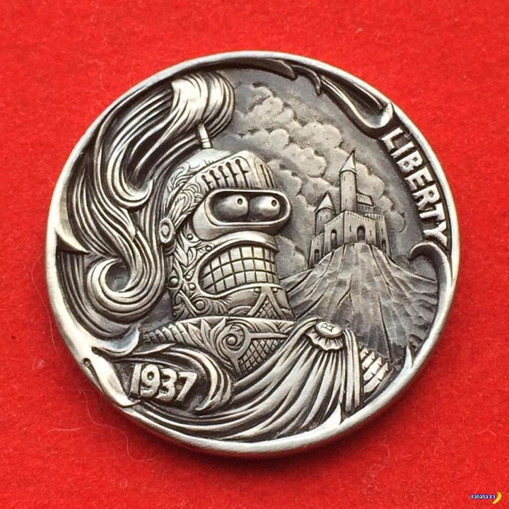 Резьба по старым монетам