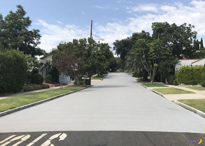 Белые улицы в Лос Анджелесе