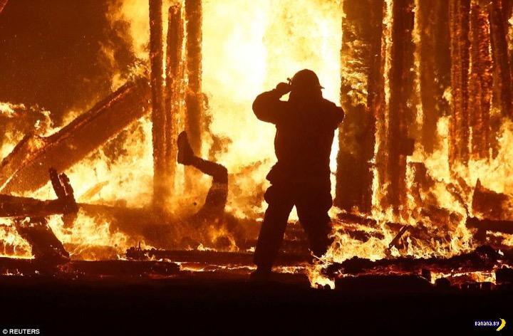 Burning Man слишком буквально