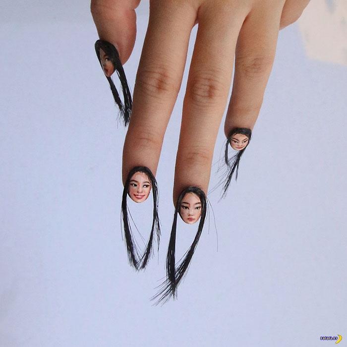 Волосатые селфи-ногти!