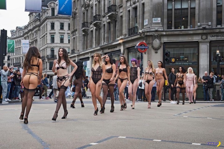 Рекламный ход в центре Лондона