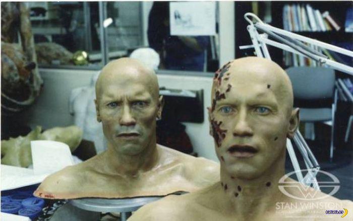 """Фотографии со съёмок фильма """"Терминатор 2"""""""