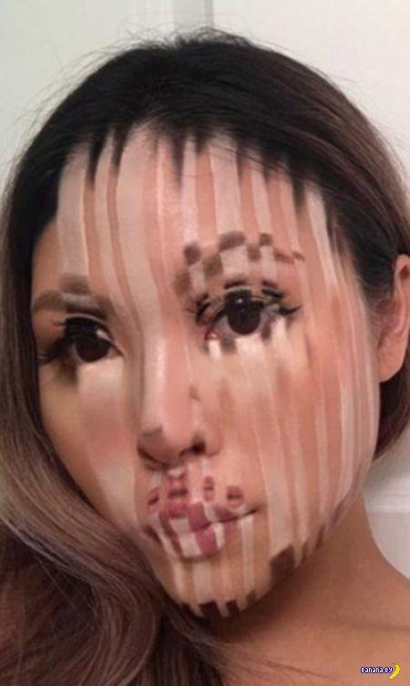 Деформации макияжем