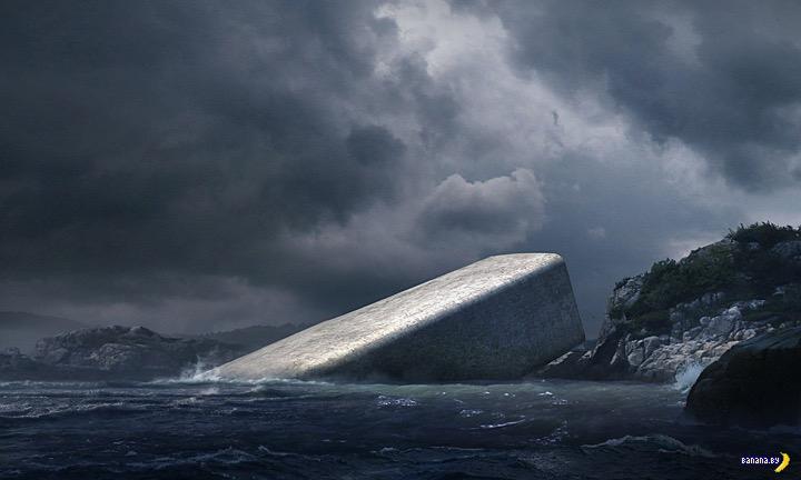В Норвегии достраивают подводный ресторан