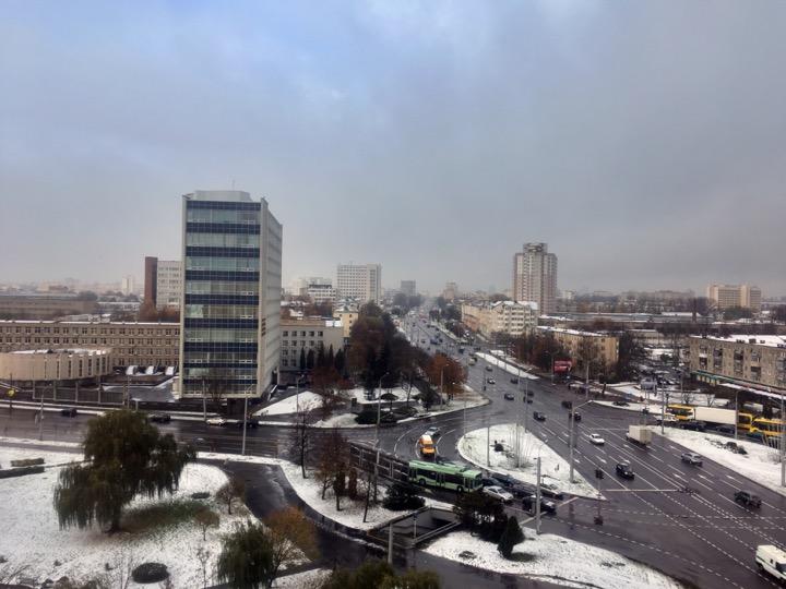Погода: снег на моей голове!