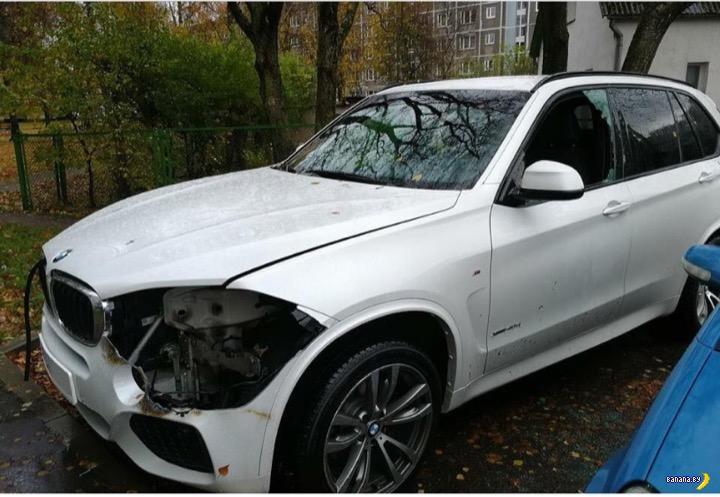 Ослепили BMW X5