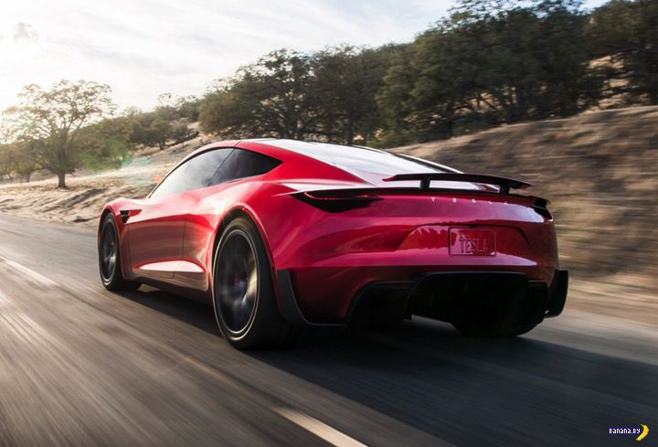 Tesla Roadster умчит вас в закат